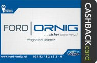 Inserat Ford Ornig: Der Ford Partner