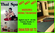 Inserat Neue Thai Spa Masseurin
