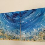 Inserat Acrylbild mit Muscheln; Under the Sea;